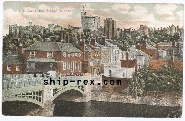 Windsor - The Castle and Bridge - old postcard